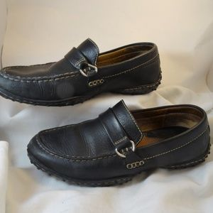 Black and Red Buckle Comfy Loafers 8/39